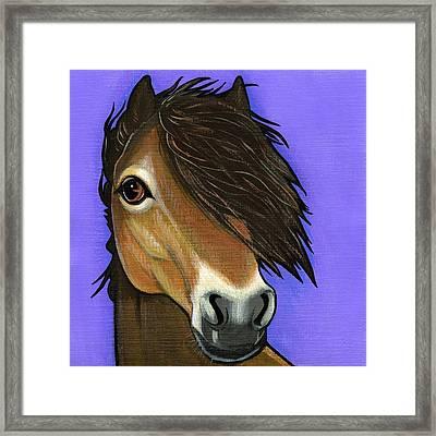 Exmoor Pony  Framed Print by Leanne Wilkes