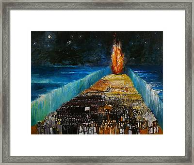 Exodus Framed Print by Richard Mcbee