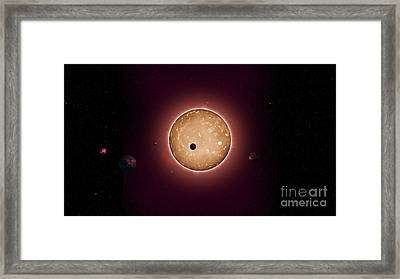 Exoplanet Kepler-444 Planetary System Framed Print by Science Source
