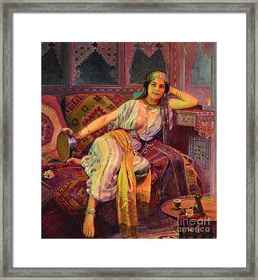 Exotic  Beauty Framed Print by Pg Reproductions