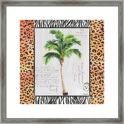 Exotic Palms 1 Framed Print by Debbie DeWitt