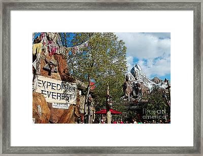 Expedition Everest Animal Kingdom Walt Disney World Prints Poster Edges Framed Print by Shawn O'Brien