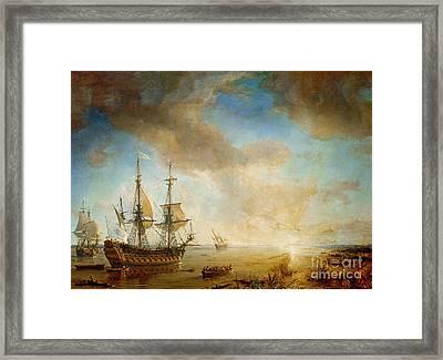Expedition Of Robert Cavelier De La Salle  Framed Print by Jean Antoine Theodore Gudin