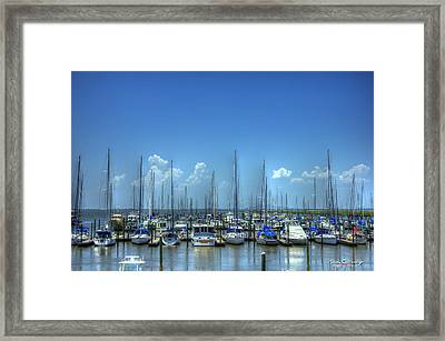 Expensive Toys Sailboats St Simons Island Georgia Framed Print by Reid Callaway