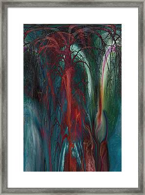Experimental Tree Framed Print by Linda Sannuti