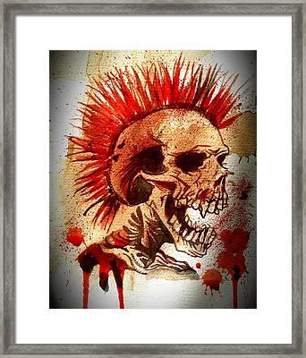 Exploited Skull Framed Print by Ryan Almighty