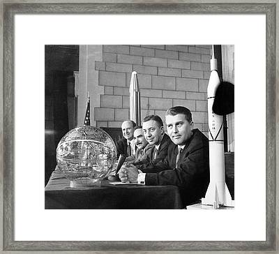 Explorer Space Scientists Framed Print by Underwood Archives