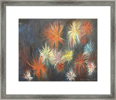 Explosive Emotions Framed Print by Suzanne  Marie Leclair