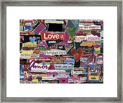 expression'd Love  Framed Print by Kenneth James