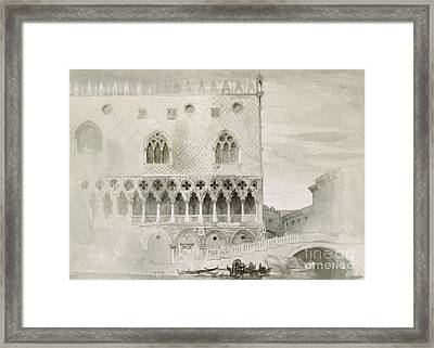 Exterior Of Ducal Palace, Venice, 19th Century Framed Print by John Ruskin