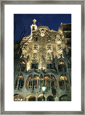 Exterior View Of An Antoni Gaudi Framed Print by Richard Nowitz