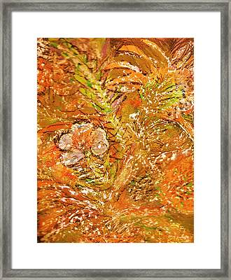 Extravaganza Orange Framed Print by Anne-Elizabeth Whiteway