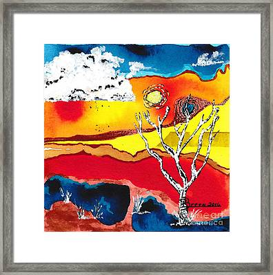Extreme Heat Framed Print by Ronda Breen