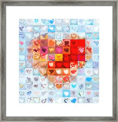 Extreme Makeover Home Edition Katrina's Heart Two Framed Print by Boy Sees Hearts