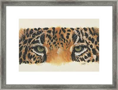 Eye-catching Jaguar Framed Print by Barbara Keith
