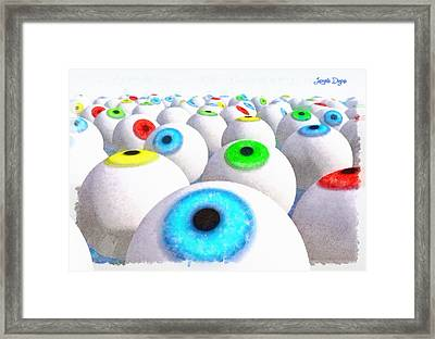 Eye Farming And Growing - Da Framed Print by Leonardo Digenio