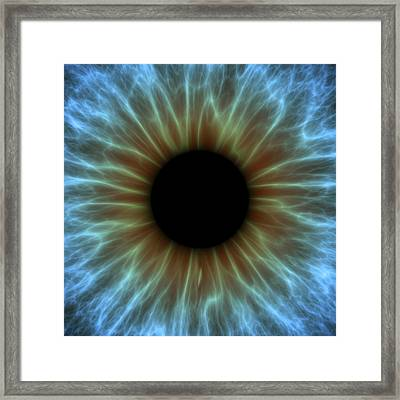 Eye, Iris Framed Print by Pasieka