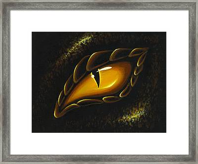 Eye Of Golden Embers Framed Print by Elaina  Wagner