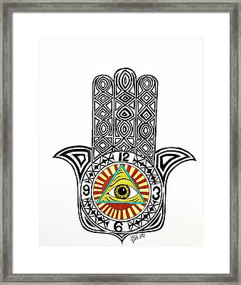 Eye Of Good Fortune  Framed Print by Pierce Puckette
