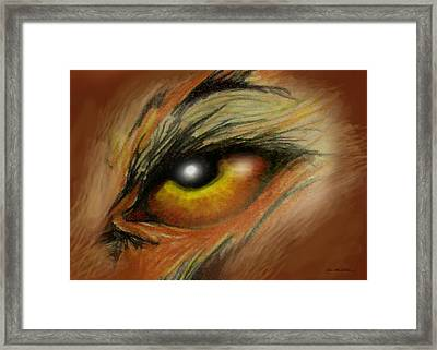 Eye Of The Beast Framed Print by Kevin Middleton