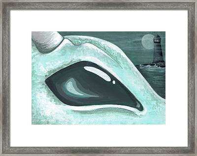 Eye Of The Coast Dragon Framed Print by Elaina  Wagner