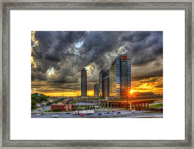 Eyecatcher Sunset Atlantic Station Framed Print by Reid Callaway