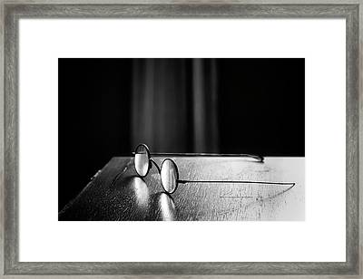 Eyeglasses - Spectacles Framed Print by Nikolyn McDonald