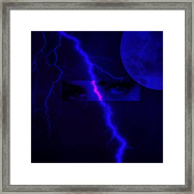 Eyes Of The Storm Framed Print by Frances Lewis