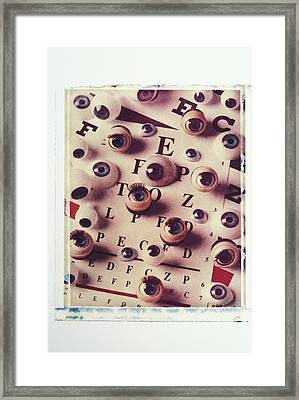 Eyes On Eye Chart Framed Print by Garry Gay