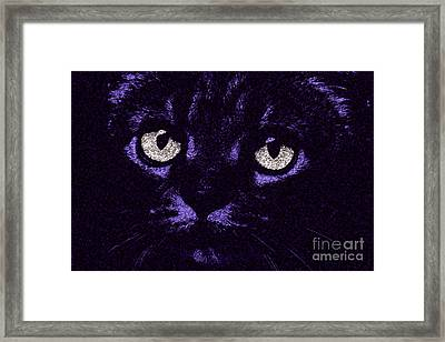 Eyes Straight To The Heart Framed Print by Andee Design