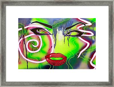 Eyes That Could Kill Framed Print by Bobby Zeik