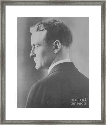 F. Scott Fitzgerald, American Author Framed Print by Photo Researchers