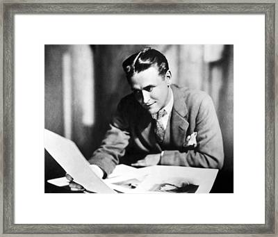 F. Scott Fitzgerald In The Late 1920,s Framed Print by Everett