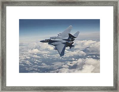 F15 - E  Strike Eagle Framed Print by Pat Speirs