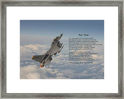 F16 - High Flight Framed Print by Pat Speirs