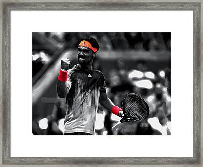 Fabio Fognini Framed Print by Brian Reaves