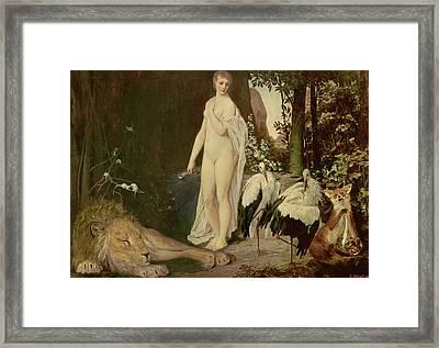 Fable Framed Print by Gustav Klimt