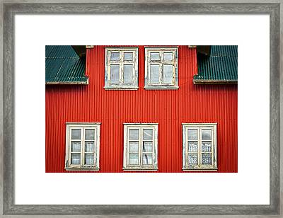 Facade And Windows - Iceland Framed Print by Stuart Litoff