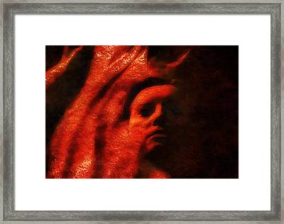 Face Among The Dunes Framed Print by Mario Carini