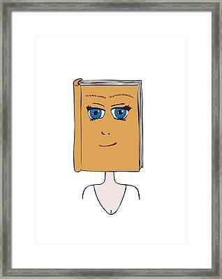 Face Book Framed Print by Frank Tschakert