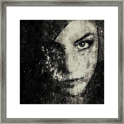 Face In A Dream Grayscale Framed Print by Marian Voicu