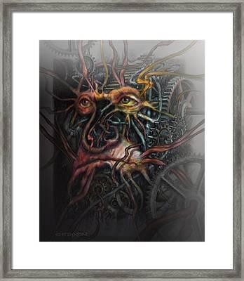 Face Machine Framed Print by Frank Robert Dixon