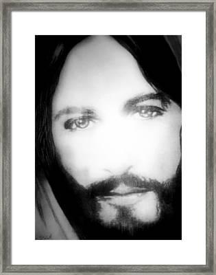 Face Of Jesus Framed Print by Susan  Solak