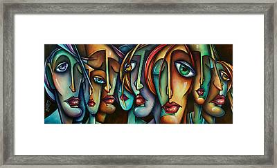 'face Us' Framed Print by Michael Lang