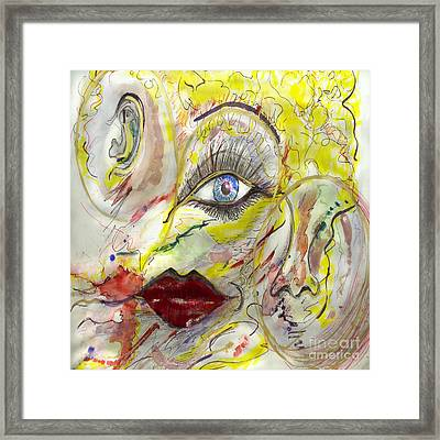 Face Framed Print by Vera Laake