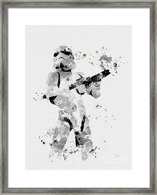 Faceless Enforcer Framed Print by Rebecca Jenkins