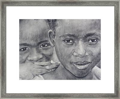 Faces Of Determination #2 Framed Print by Adrienne Martino