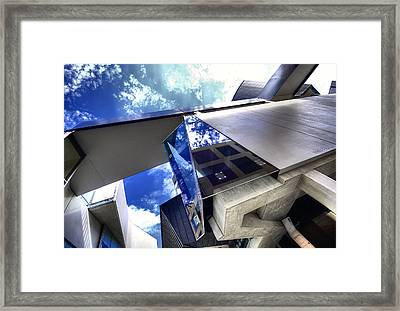 Facetted Framed Print by Wayne Sherriff