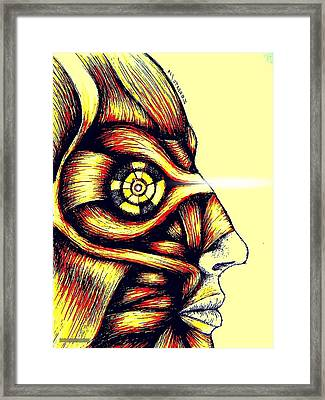Facial Muscles Framed Print by Paulo Zerbato