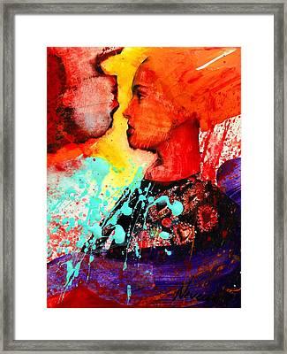 Facing The Self Framed Print by Nevena Bentz